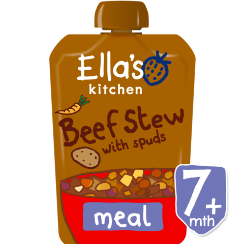Ella's Kitchen Wonderfully Warming Beef Stews with Spuds Stage 2, 130g (From 7 Months)