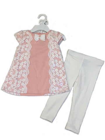 Tahari Baby Pink Dress and Leggings
