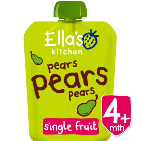 Ella's Kitchen Pears, Pears, Pears, 70g (From 4 Months) EXP: December 30, 2019