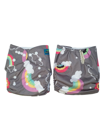 Stella and Chan - Cloth Diaper, Rainbow Baby
