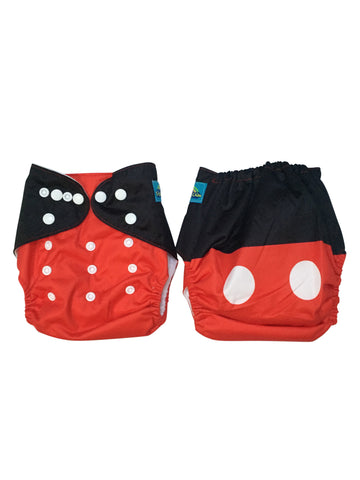 Stella and Chan - Cloth Diaper, Mickey Baby