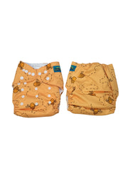 Stella and Chan - Cloth Diaper, Honey Baby