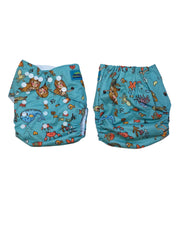 Stella and Chan - Cloth Diaper, Sea Baby
