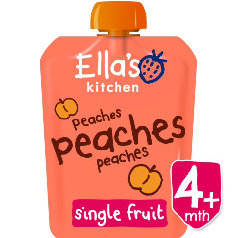 Ella's Kitchen Peaches, Peaches, Peaches, 70g (From 4 Months) EXP: October 30, 2019
