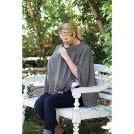 Infantino 3-in-1 Nursing Shawl and Cover, Grey