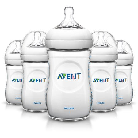 Philips Avent BPA Free Natural Baby Bottles, 9 Ounce, 5 Pack