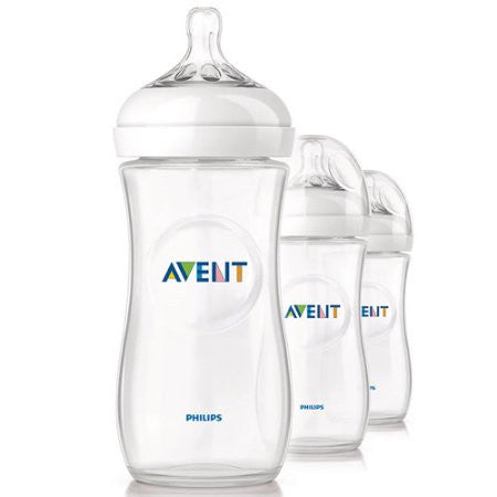 Philips Avent BPA Free Natural Baby Bottles, 11 Ounce, 3 Pack