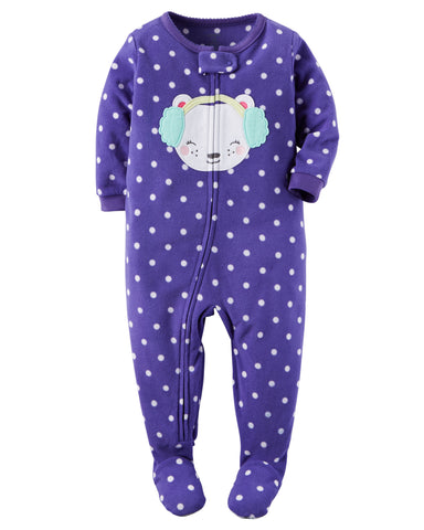 Carters Calibri 1-Piece Fleece PJs
