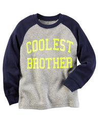 Carters Long-Sleeve Coolest Brother Raglan Graphic Tee