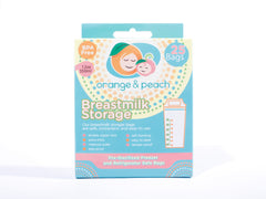 Orange and Peach Breastmilk Storage Bags 25s