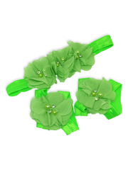 Stella and Chan - Baby Flower Band Set, Green