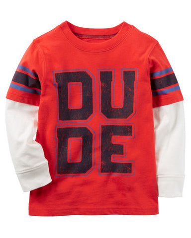 Carters Layered-Look Dude Graphic Tee