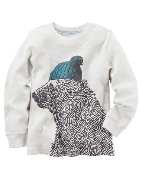 Carters Long-Sleeve Bear Graphic Tee