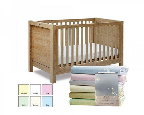 Snuggle Baby Cotton Crib Fitted Sheets