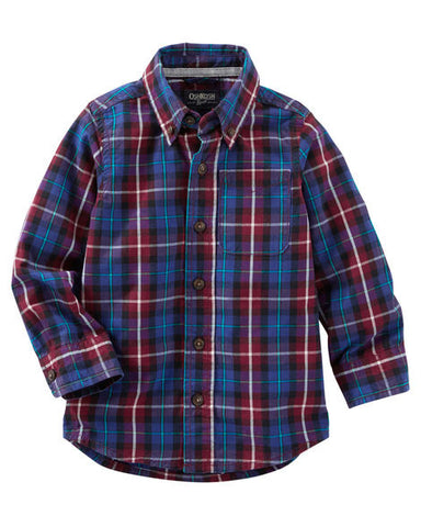 OshKosh Plaid Button-Front Shirt