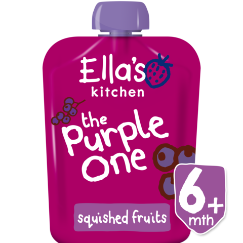 Ella's Kitchen The Purple One Smoothie Single, 90g (From 6 Months) EXP: November 30, 2019