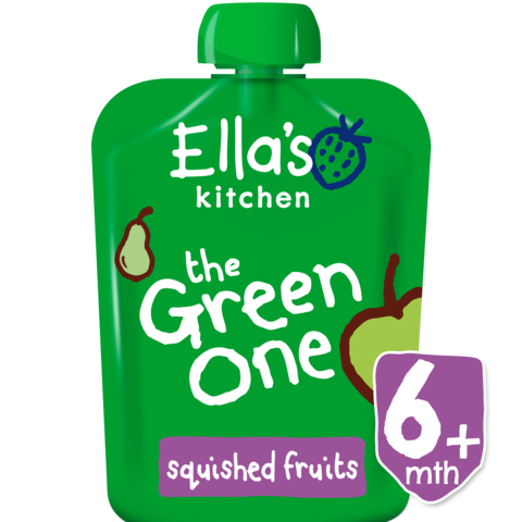 Ella's Kitchen The Green One Smoothie Single, 90g (From 6 Months) EXP: October 30, 2019
