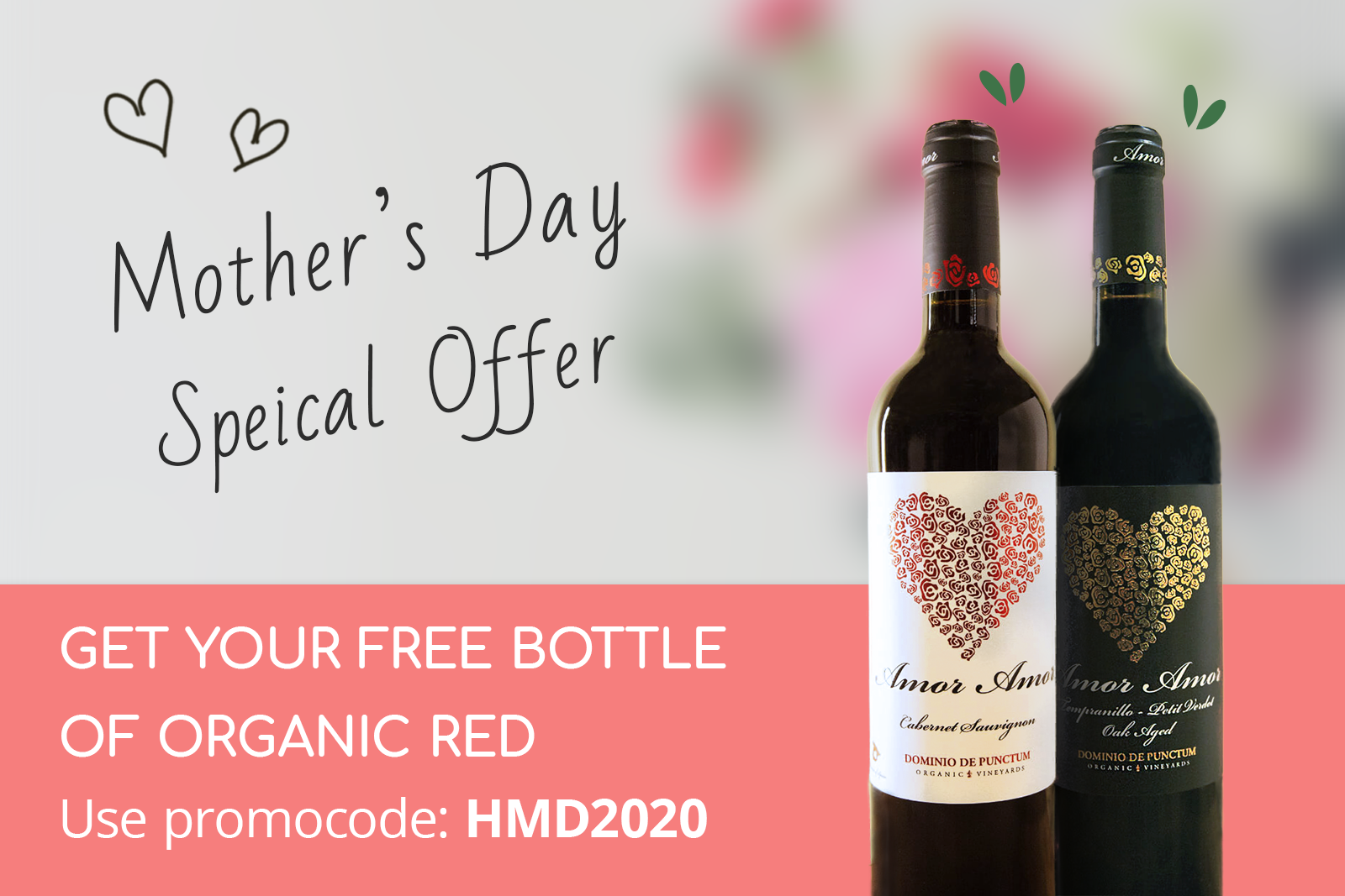 Grapetime mothers day offer free organic red wine