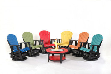 Adirondack Swivel Glider Chairs