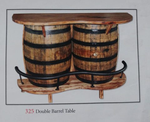 Whiskey Barrel Bar Table