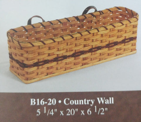 Amish Made Wall Basket