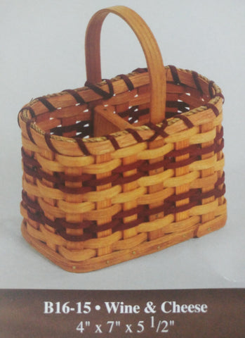 Amish Made Bottle & Snack Basket