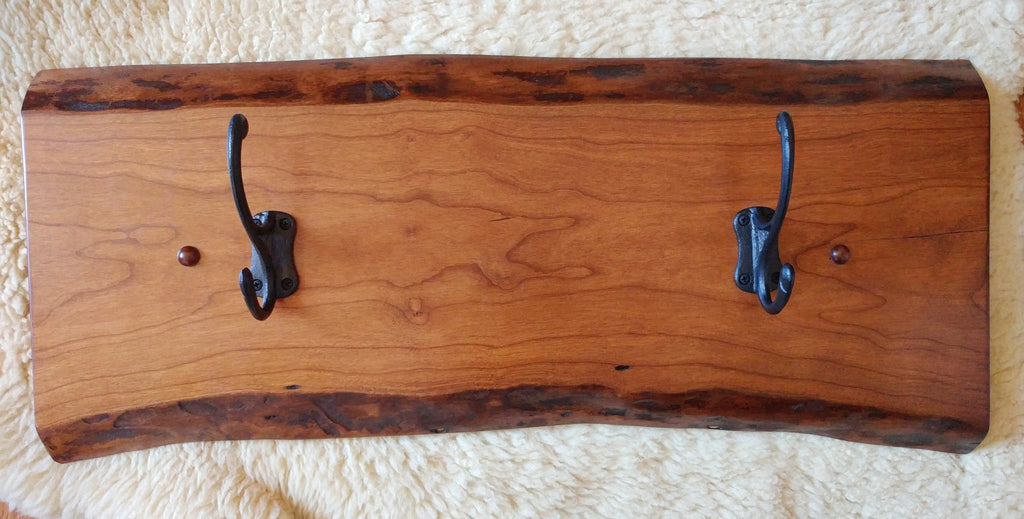 Live Edge Coat/Hat Rack