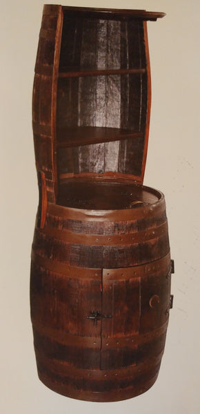 Whiskey Barrel Hutch