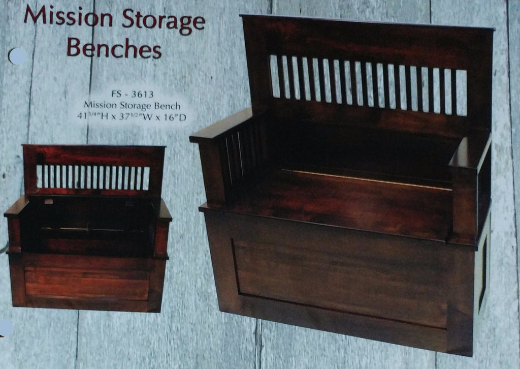 Mission Style Storage Bench