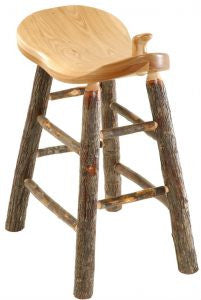 Hickory Saddle Stool