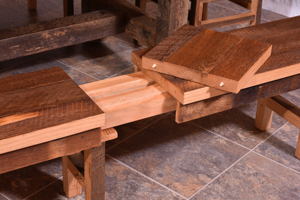 Barnwood Extend-a-Bench