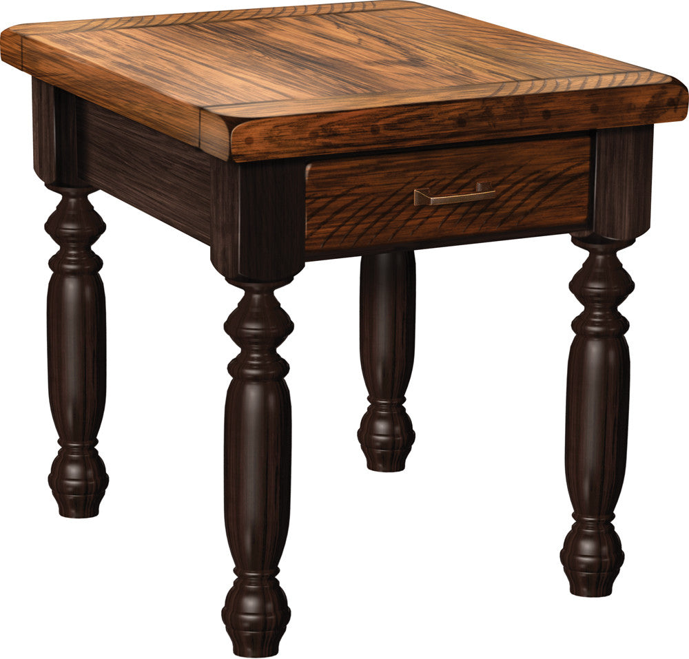 Plank Country End Table