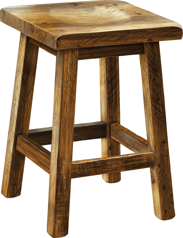 Reclaimed Oak Bar Stool