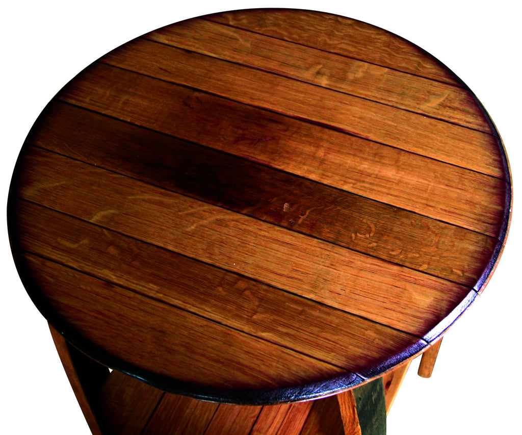 Good ... Rustic Whiskey Barrel End Table
