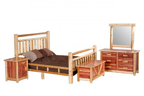 White Pine/Red Cedar Bedroom Set