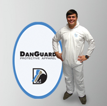 Danguard - MicroPorous Coveralls, White, Serged Seam, Hooded, Boots, Elastic Wrist