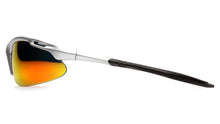 Avante™ Eyewear Ice Orange Mirror Lens, Silver Frame - Pkg Qty 12