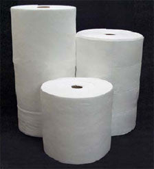 "30"" x 150' Sonic Bonded Absorbent Roll White Oil-Only"