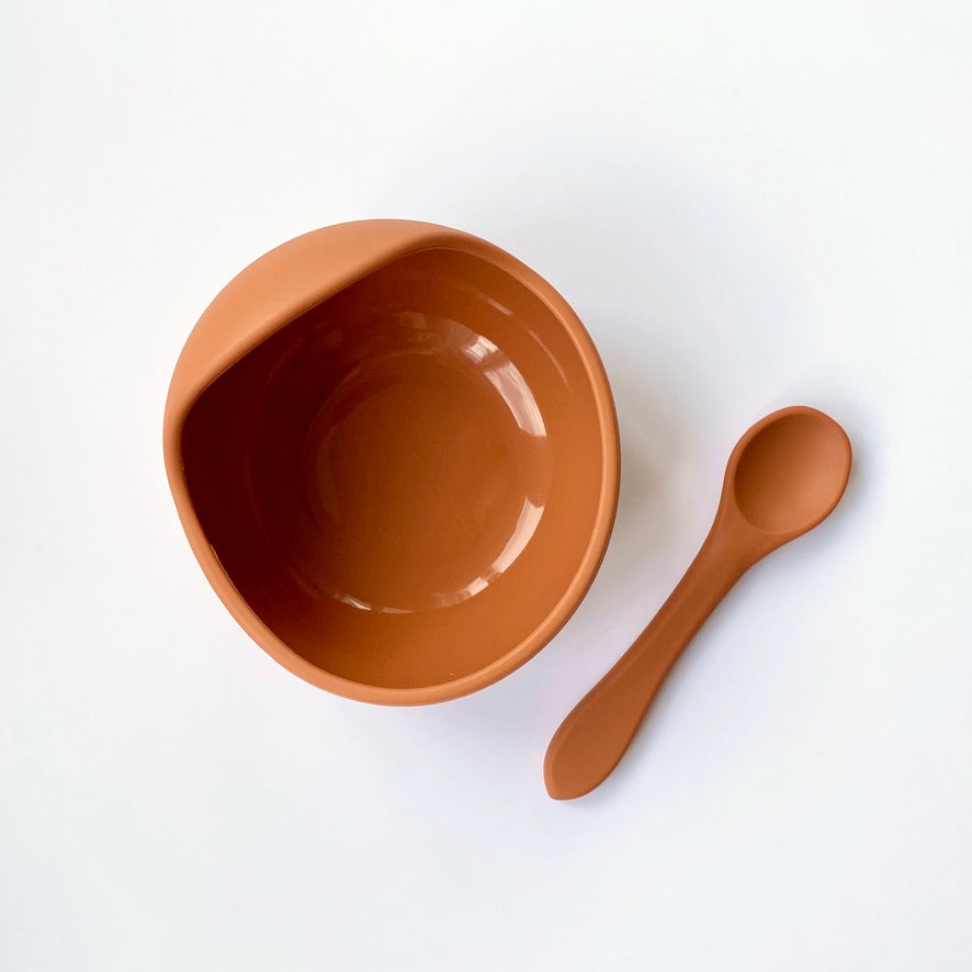 Silicone Baby Bowl Set | Burnt Orange