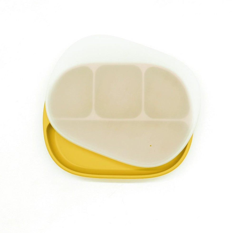 Snack Plate + Lid | Honey
