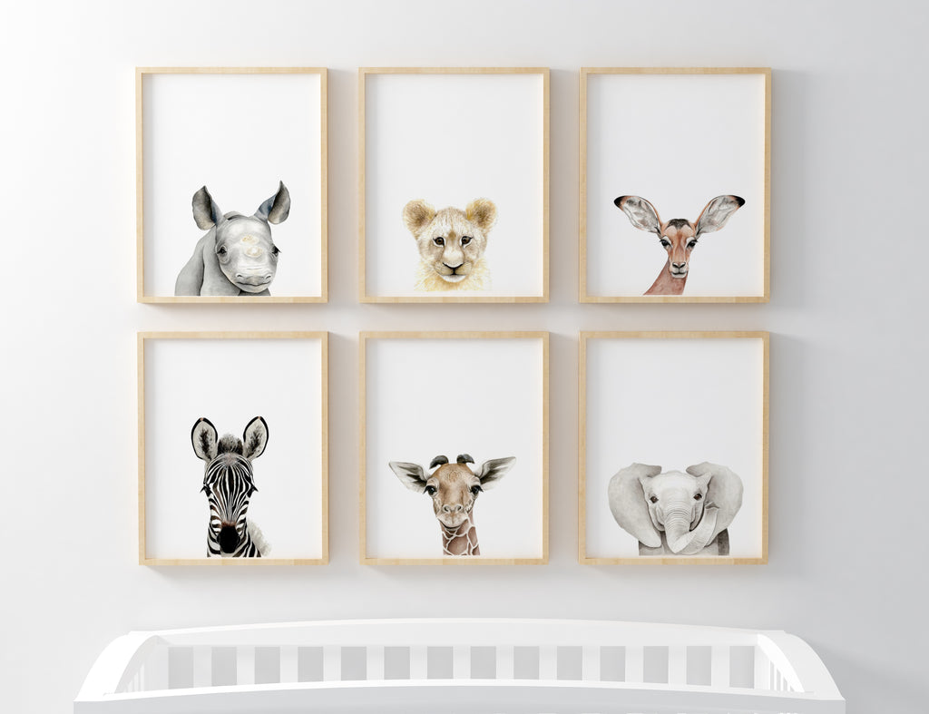 Full Set of Safari Baby Prints
