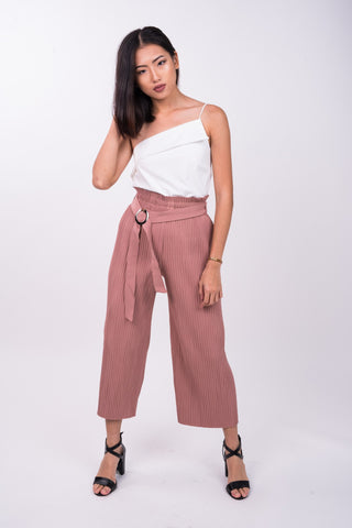 Premium Pleated Pants in Blush Pink