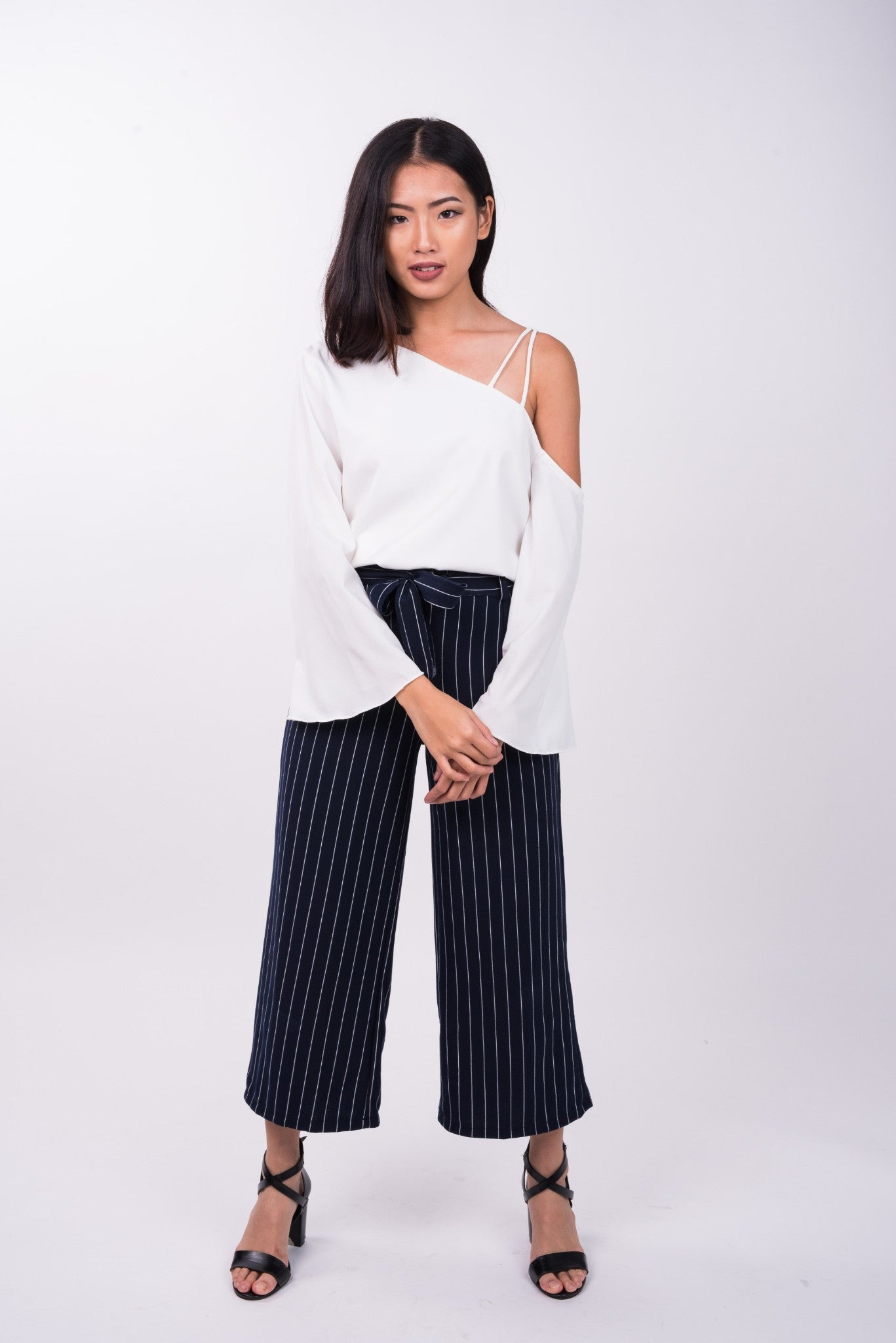 Pin Striped Pants in Navy