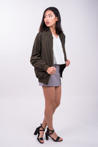 Bomber Jacket in Green