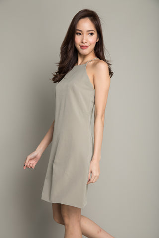 Halter Dress in Olive