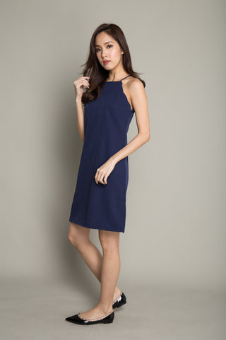Halter Dress in Navy