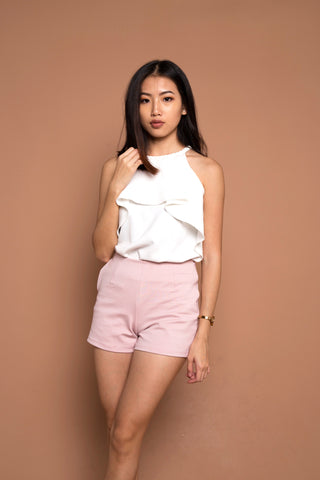 Basic Go To Shorts in Dusty Pink