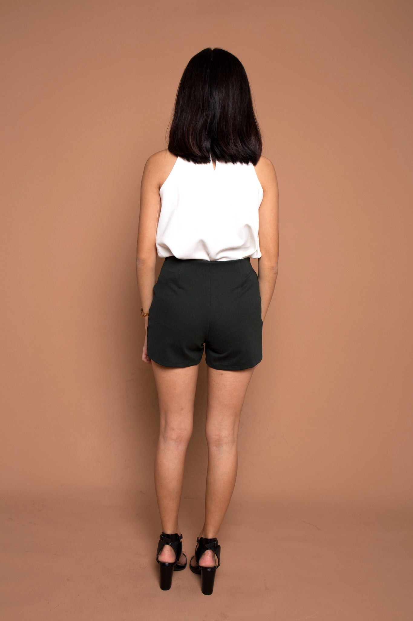 Basic Go To Shorts in Forest Green