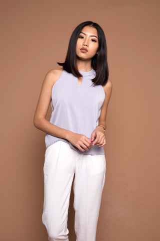 Classic Key Hole Top in Grey
