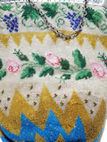 Amazing antique finely beaded bag